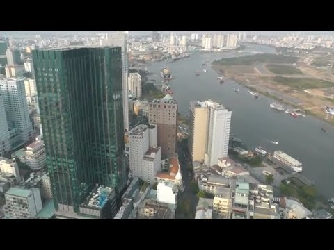 Bitexco Financial Tower в Хошимине.  Вьетнам.