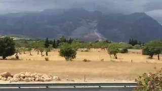 Palma de Mallorca, Mountains, View From a Bus, Spain