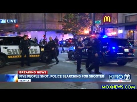 BREAKING! FIVE PEOPLE SHOT IN DOWN TOWN SEATTLE! SHOOTER STILL ON THE LOOSE!