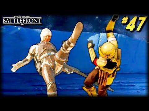 Star Wars Battlefront - Funny Moments #47 (Epic Dengar Kick, Nien Nunb in Battlefront 2!)