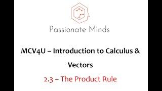 MCV4U/ Grade 12 - Calculus & Vectors - 2.3 Product Rule