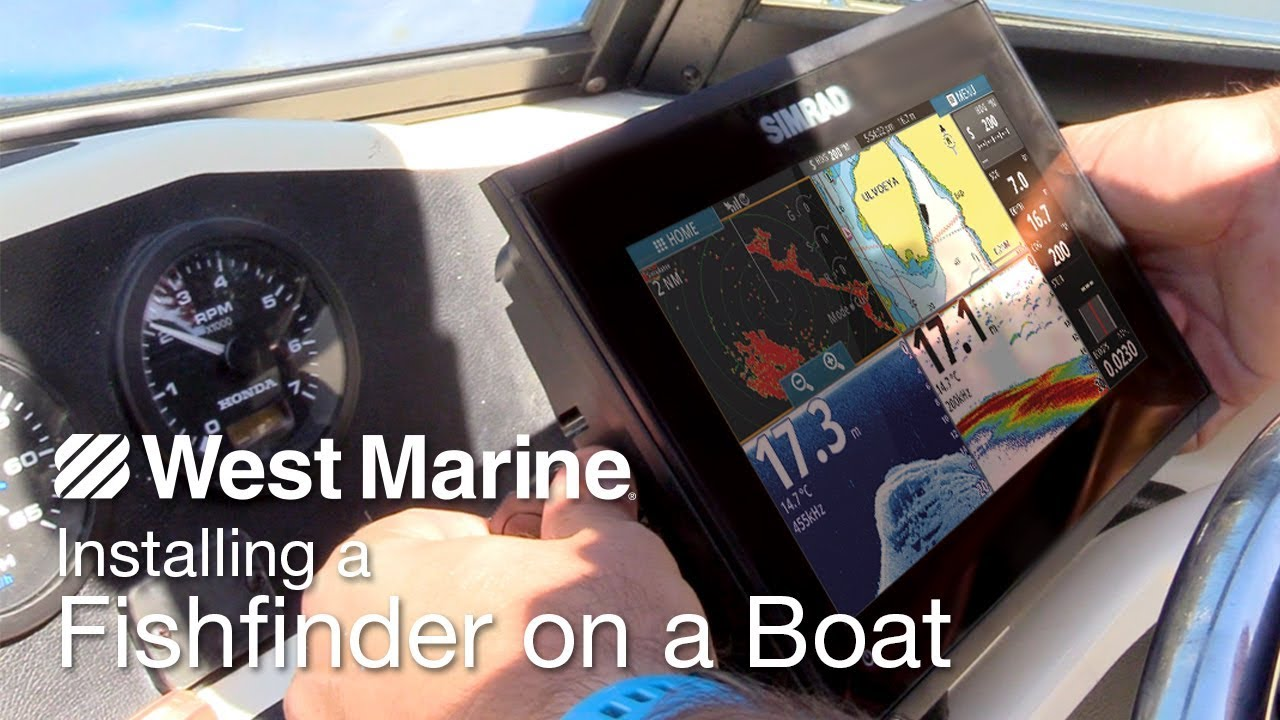 installing a simrad go9 on an arima boat [ 1280 x 720 Pixel ]