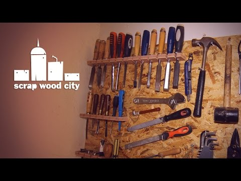How To Make A Simple Diy Wall Tool Board Youtube