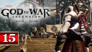 God of War Ascension (PS3) Walkthrough - Part 15: Chapter 18 | Delos Landing & Obtaining Light as a Feather Trophy GoW Let