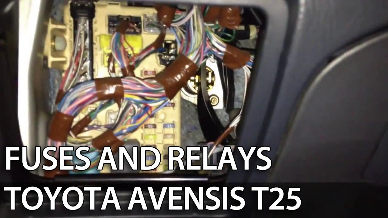 medium resolution of where are fuses and obd port in toyota avensis ii 2003 2009 t25 diagnostics relays obd2 youtube