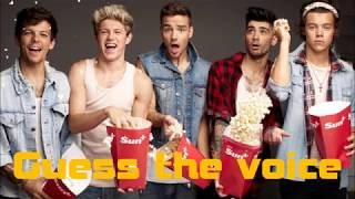 ONE DIRECTION l Guess the voice
