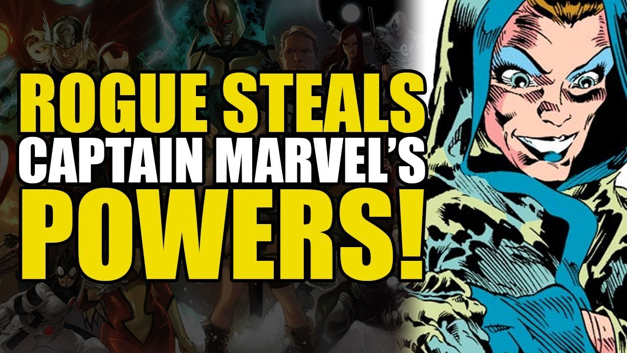 Download Rogue Steals Captain Marvel's Powers! (The Avengers Annual #10)