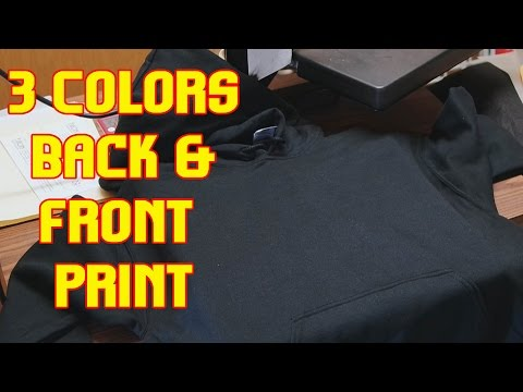 Printing Hoodies: 3 Colors with 2 Prints TshirtChick