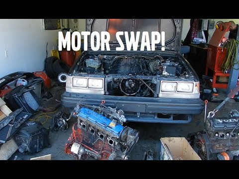 VOLVO 740 TURBO WAGON MOTOR SWAP!