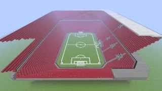 Minecraft Time lapse | Football stadium