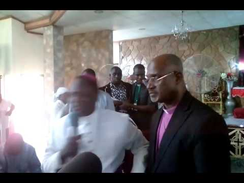 The Archbishop of LCCN most Rev Dr Nemuel Babba introducing Archbishop elect Rt Rev Dr Musa Filibus