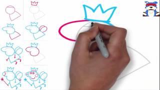 дудл видео уроки рисования поэтапно свинка ПЭПА