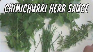 Argentinian Chimichurri Herb Sauce