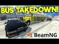 SCHOOL BUS POLICE TAKEDOWNS & CRASHES! - BeamNG Gameplay & Crashes - Cop Escape