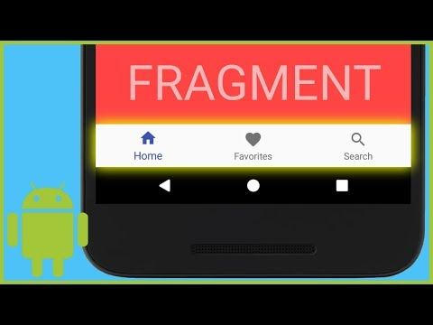 BottomNavigationView With Fragments - Android Studio Tutorial
