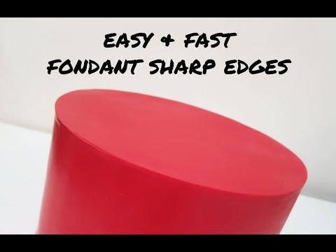 How to: Fondant super sharp edges (upside down panel method)