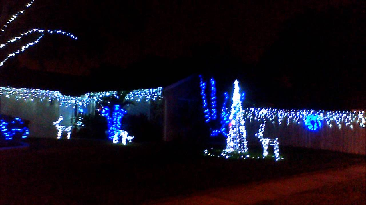 White And Blue Christmas Lights Youtube