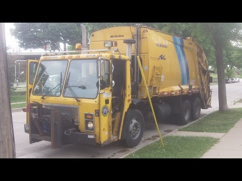 Mack LE McNeilus Rear Load Garbage Truck