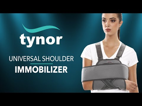 How to wear Tynor Universal Shoulder immobilizer for complete&secure immobilization of the shoulder