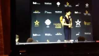 Missy Peregrym speaking to the press 2015 Canadian Screen Awards
