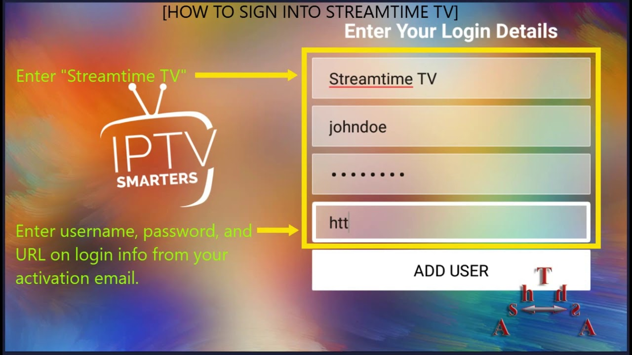 How to sign in Streamtime TV on any device