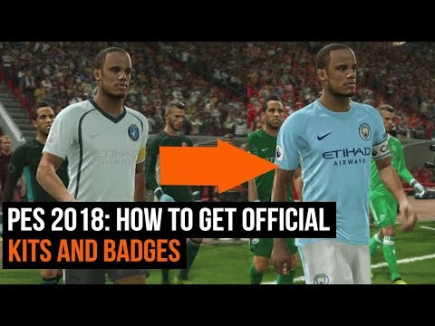 a80086b52 PES 2018 - How to get all the official kits and badges with an option file