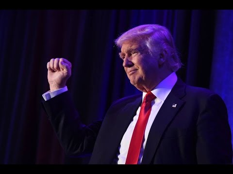 Donald J. Trump speaks to supporters on The Wall Street Journal