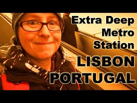 Travelling  on the Metro in Lisbon, Portugal, with Imo and Izzy. 🇵🇹