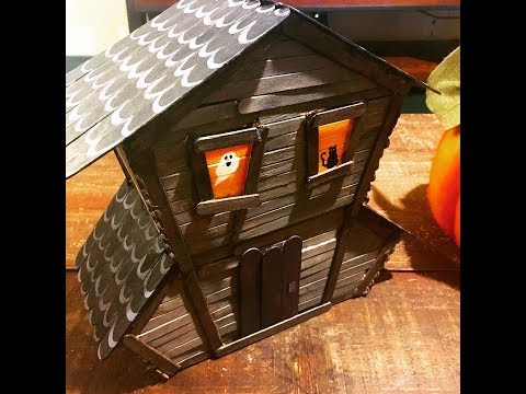 DIY Pop Sickle Stick Haunted House