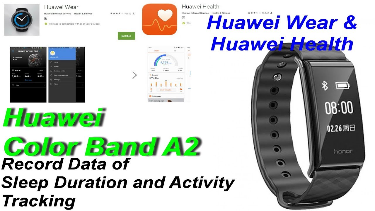 Track and Record Sleep Duration with Huawei Wear & Huawei Health APP