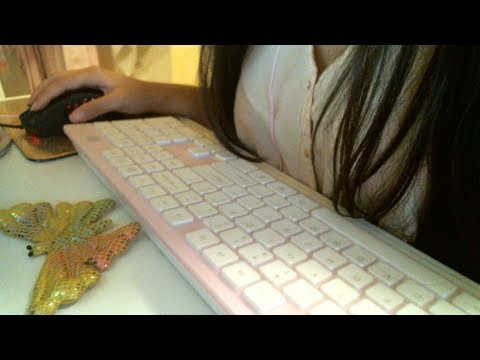 ASMR | Typing on the keyboard | Mouse clicking sounds | No talking