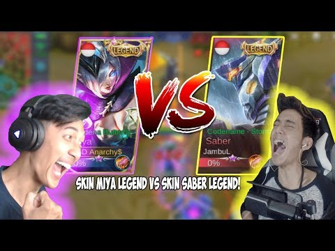 SKIN MIYA LEGEND VS SKIN SABER LEGEND! siapa yang paling HOT?! ft. Isan Karis - Mobile Legend