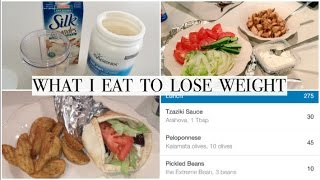 WHAT I EAT TO LOSE WEIGHT   BACK TO CALORIE COUNTING   + EASY CHICKEN SOUVLAKI PITAS