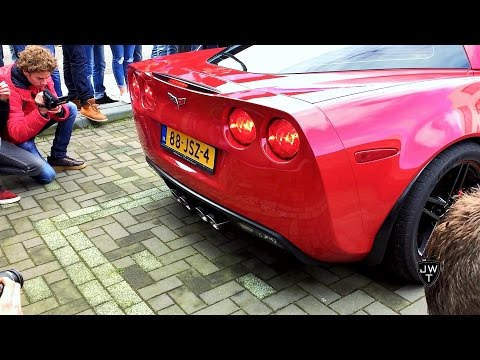 LOUD Chevrolet Corvette C6 w/ Custom Exhaust REVVING & Accelerations! SOUNDS!