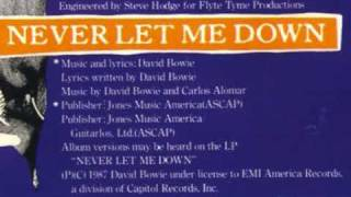 "Never Let Me Down (7"" Remix Edit)"