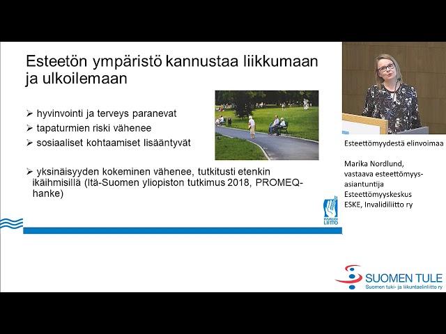 12.  Esteettömyydestä elinvoimaa. Marika Nordlund, Invalidiliitto
