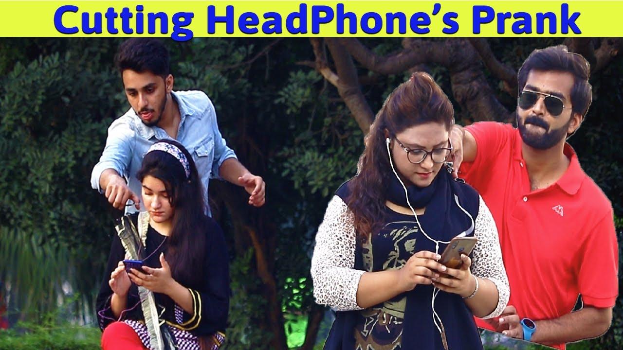 Cutting Peoples Earphones, Then Giving Them Airpods | Waqas Rana | Pranks in Pakistan | Zero Brand