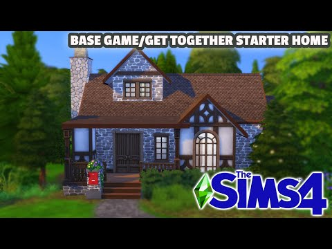 BASE GAME/GET TOGETHER STARTER HOME | The Sims 4: Tazkabaz Speed Build |