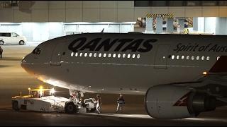 Qantas Airways Airbus330-300 VH-QPF Pushback [NRT/RJAA]