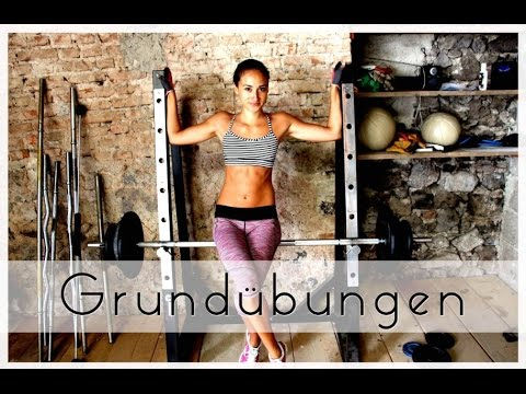 Grundbungen - Muskelaufbau / Krafttraining - Ausfhrung: Squats, Kreuzheben.Muskelaufbau Frauen