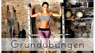 Grundübungen - Muskelaufbau / Krafttraining - Ausführung: Squats, Kreuzheben...Muskelaufbau Frauen