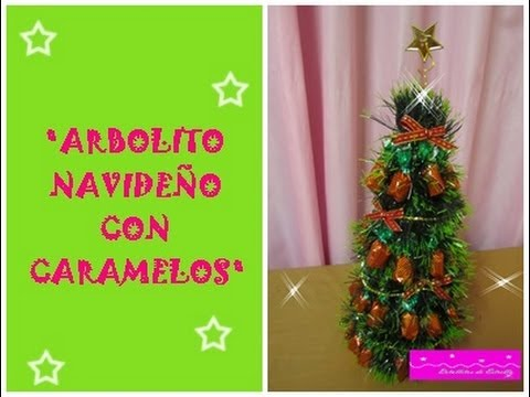 TUTORIALTOPIARIOArbolito Navideo con Caramelos YouTube