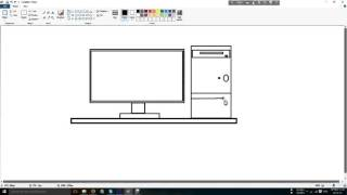 How to draw Computer on paint