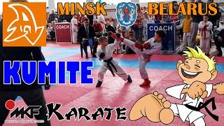 Соревнования по каратэ. КУМИТЭ. Дети 7 лет. Competitions in karate. KUMITE. Boys 7 years