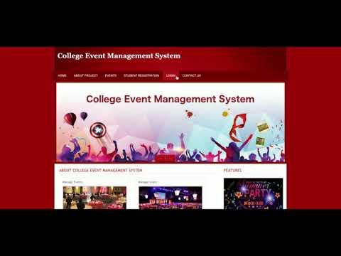 College Event Management System