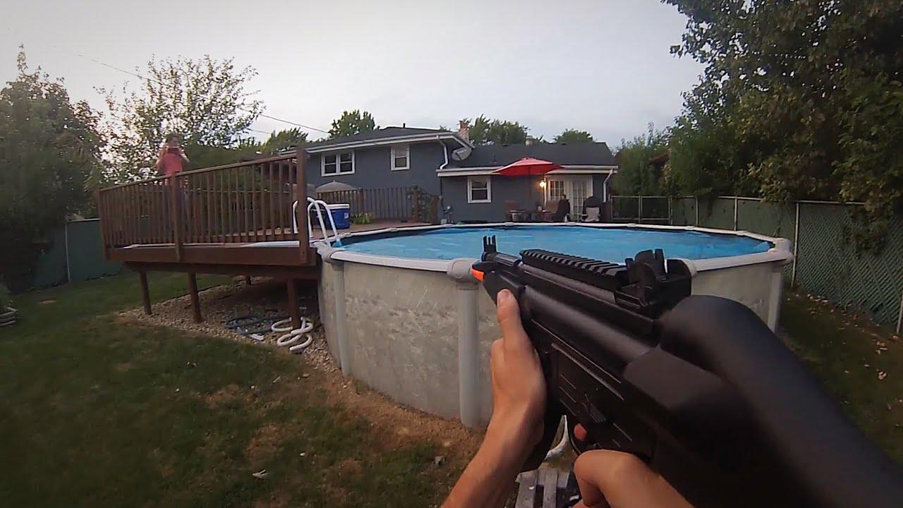 Backyard Airsoft Wars Part - 36: GoPro First Person BackYard Airsoft War