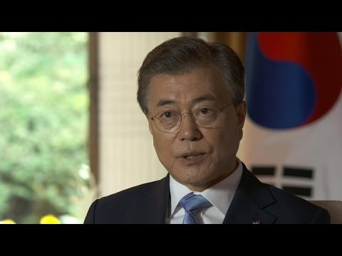 S. Korean President Moon on N. Korea, Warmbier's death, Trump meeting