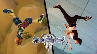 Stunts From Kingdom Hearts In Real Life (KH3 Parkour)