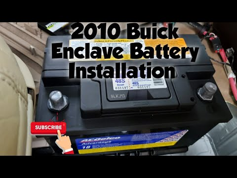 How to: Install Battery 2010 Buick Enclave