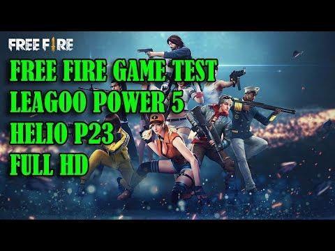 FREE FIRE GAME TEST LEAGOO POWER 5 HELIO P23 FULL HD